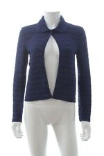 Christian Dior Scalloped Knit Cardigan / Black, Blue