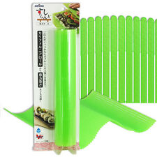 "Japanese 10""x10.25"" Green Non-Stick Plastic Uramaki Sushi Roll Mat Made in Japan"