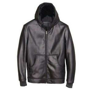 Men's Real Leather Hoodie Leather Sports/Workout Jacket / Top 8 Colors Options