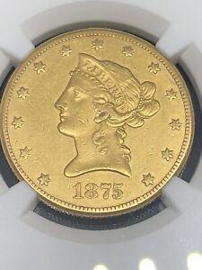 1875 Carson City!!! liberty head $10  gold NGC AU RARE!!!!!