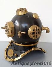 Navy Vintage Halloween Dive Helmet Mark V Antique Diving Divers Helmet Full Size