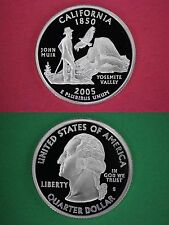 Silver 2005-S California Proof State Quarter Deep Cameo Flat Rate Shipping