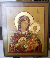 icona Madonna Gora Nerukosechnaya dipinta  a mano perfetta mai toccata XX sec.