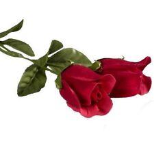 LOT DE 10 ROSES ROUGE FLEUR ARTIFICIELLES 40 CM DECORATION MARIAGE SOIREE