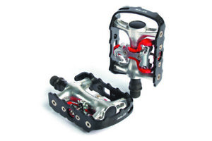 XLC Bicycle Cycle Bike MTB / Trekking System Pedal PD-S01 Black - 9 / 16 Inch