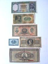GREECE 1925 - 1943 ANTIQUE VINTAGE BANK NOTE PAPER MONEY  set of 6
