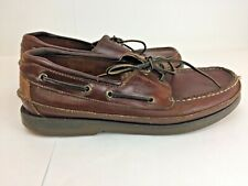 Sperry Top Sider Mako Collection Men's Size11 Brown Leather Boat Shoes 0764027