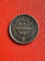 #5606 - Médaillette Louis XIII 4 novembre 1829 Statue Equestre QUALITE - FACTURE