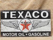 Texaco Winged Logo Tin Metal Sign Decor Motor Oil Gasoline