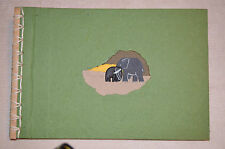"New Unique 10"" x 15"" Scrapbook Album HandMade From Elephant Dung Paper 12pgs  #B"