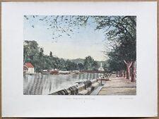 ca.1895 French photochrom MADAME RIVER, FORT-DE-FRANCE, MARTINIQUE, CARIBBEAN (#