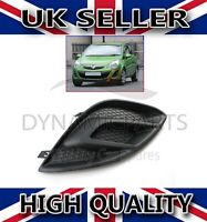 VAUXHALL CORSA D FRONT BUMPER FOG LIGHT GRILL COVER LEFT PASSENGER SIDE (11-14)
