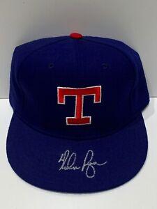 Nolan Ryan Texas Rangers Signed Autograph New Era Hat PSA DNA