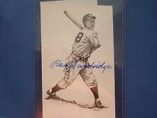 SIGNED RAY DANDRIDGE POST CARD HALL OF FAME MEMBER NEGRO LEAGUES