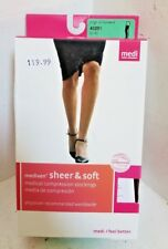 "MEDIVEN "" SHEER & SOFT "" ( 43201 ) CLOSED TOE - NATURAL - COMPRESSION STOCKINGS"