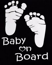 Baby on Board sticker / Decal with footprints Vinyl Car Sign Window Safe