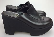 Robert Clergerie Brown Leather Platform Wedge Mule US WOMENS 6.5 Made in France