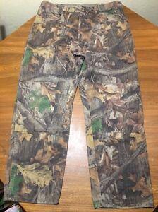 "Wrangler Rugged Wear Camo Jeans Pants Advantage Men's 34x28.5"" Measured"