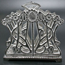 Jugendstil Serviettenständer Briefständer Serviettenhalter Art Deco silber Antik