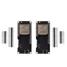 2 Pcs Lolin ESP32 OLED Module For Arduino WiFi Modules+Bluetooth Dual ESP-32