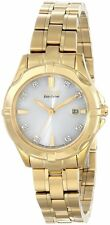 Citizen Eco Drive Ladies Gold Tone Diamond Accent Watch EW1932-54A Retail $350