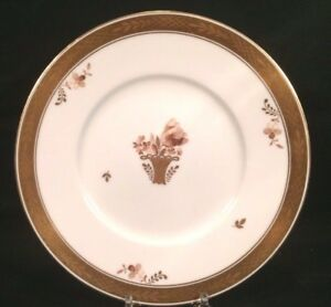 "Royal Copenhagen Luncheon Plate Golden Basket Denmark Lunch Plate 8 3/4"""
