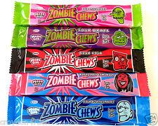 Zombie Chews Assorted Flavour Sour Lollies - 25 Pcs  x 28g