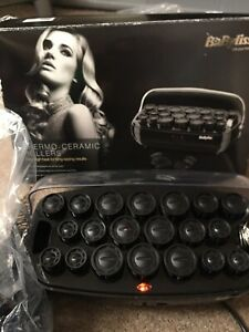 BABYLISS THERMO CERAMIC HEATED ROLLERS  Boxed Working Excellent Condition