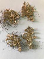 Antique ART Nouveau Gold Silk Fragment Trim Salvage Sample Costume #3