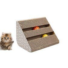 Pet Cat Kitten gewellte Scratch Board Pad Rückenkratzer Bett Matte Krallen Pflege Spielzeug Spaß