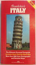 Baedecker's Italy Tourguide & Map 1989 Softback PreownedBook.com