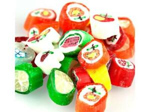 Primrose 1 lb Old Fashioned CUT ROCK Hard Candy Fruit Flavored w/ Designs