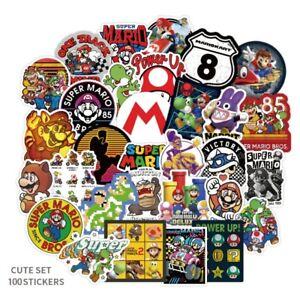 Stickers Lot 100pcs Nintendo Super Mario Luigi Princess Tod Vintage Game Boy