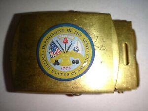Département Of The Army Surélevées Insignes Laiton Ceinture Boucle, Fait Par U.