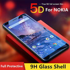 5D Tempered Glass Screen Protector For NOKIA 8 nokia 6.1 Curved Edge Full Cover