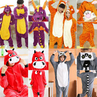 Unisex Adult Women Animal Kigurumi Pajamas Costumes Jumpsuit Cosplay Sleepwear