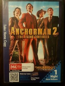 Anchorman 2 - The Legend Continues (DVD, 2014)  R4