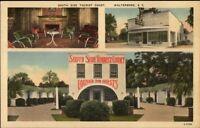 Walterboro SC South Side Tourist Court Linen Postcard
