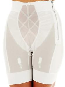 Venus of CORTLAND Zip MAXIMUM Control GIRDLE White style 5033 size 4XL (38) *NWT