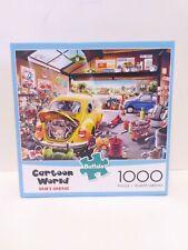 Buffalo 1000 Piece Jigsaw Puzzle Cartoon World Sam's Garage Complete Fast Ship!