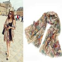 Long Soft Chiffon Voile Scarf Wrap Stole Scarf Women Accessory Large Silk Shawl