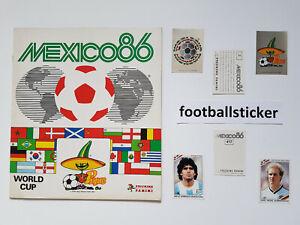 WM 1986, 10 Sticker stickers Panini World Cup 86 Mexiko Mexico football