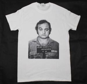 John Belushi The Blues Brothers mugshot White T-Shirt S-3XL Joliet Jake Blues
