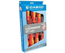 CABAC 8 PCE HVSDK5 Screwdriver Set VDE GS 1000v Insulated With Volt Tester