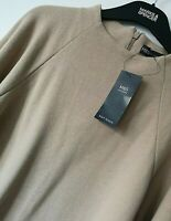 LADIES M&S SIZES 14 16 OR 20 BEIGE SUPER SOFT HIGH NECK STRETCH TOP FREE POST