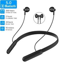 Bluetooth Headset Wireless Earphone Neckband  Sport Headphone Stereo Retractable