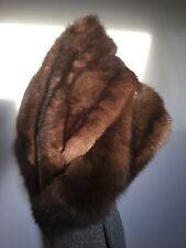 "Authentic Russian Barguzin Sable Fur 47"" Layered Stole Wrap Collar Shawl Capelet"