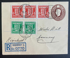 1941 Guernsey England German Occupation Stationery Cover Locally Used