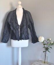 OSKA Grey-black crinkle effect lagenlook boho jacket, size 1