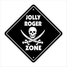Jolly Roger Crossing Decal Zone Xing pirate flag ship cannon ball black beard